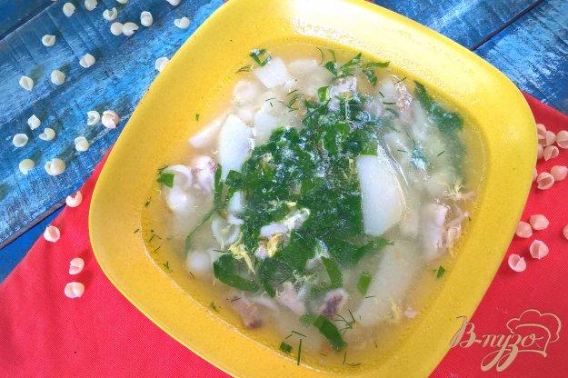 фото рецепта: Суп с ракушками и шпинатом